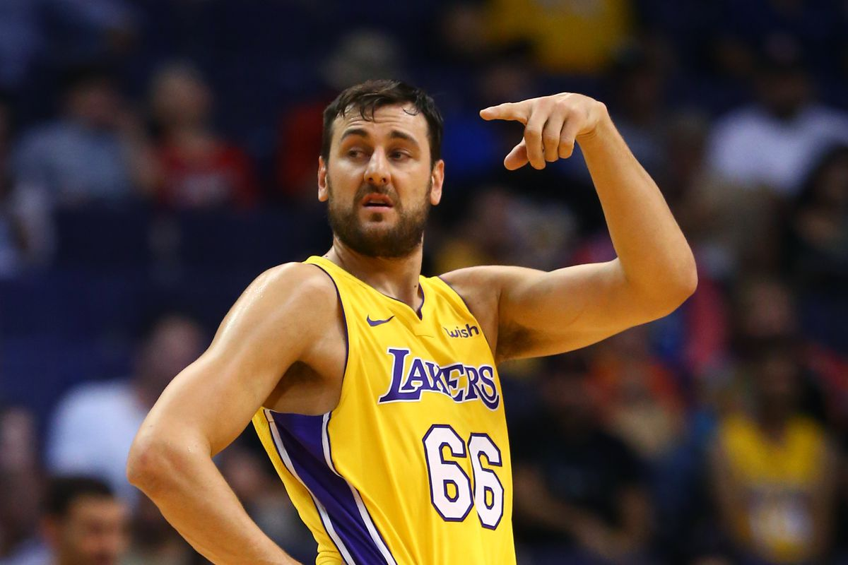 lakers officially release andrew bogut plan to aggressively seek outside shooting help silver screen and roll