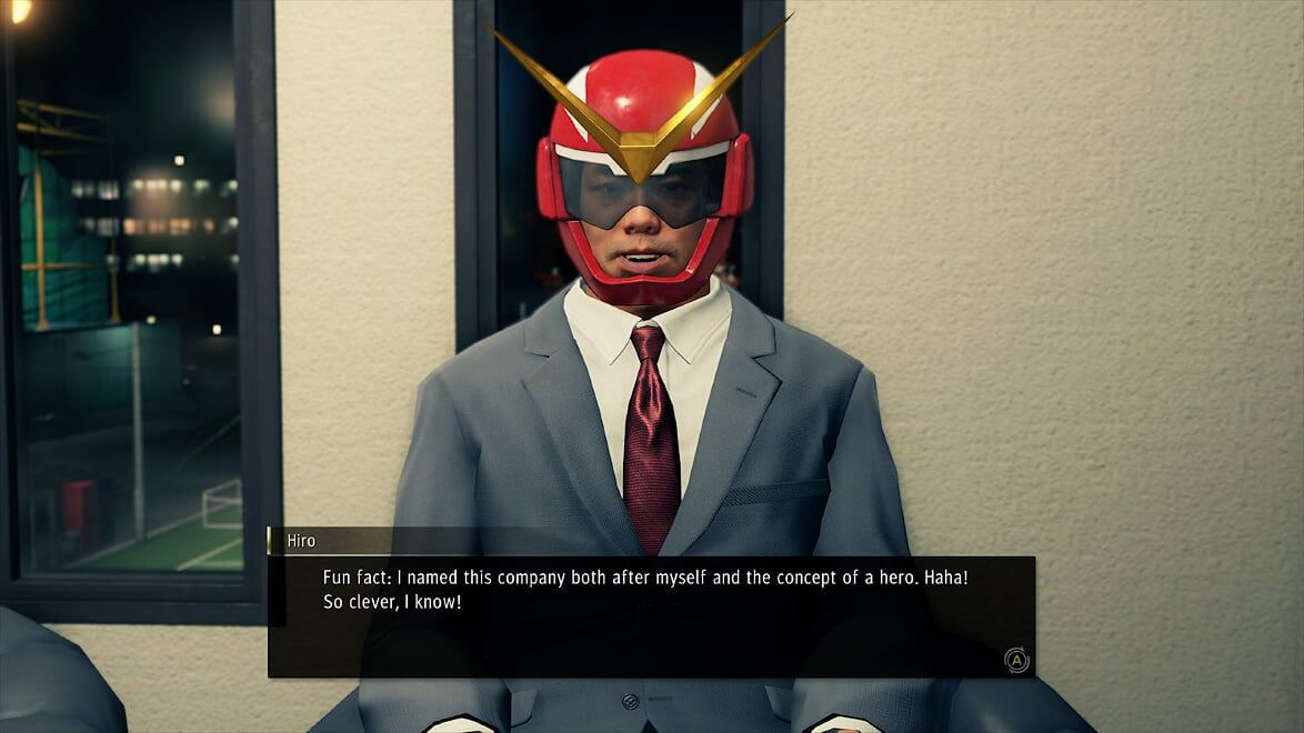 An entrepreneurial superhero introduces himself in Yakuza: Like a Dragon.