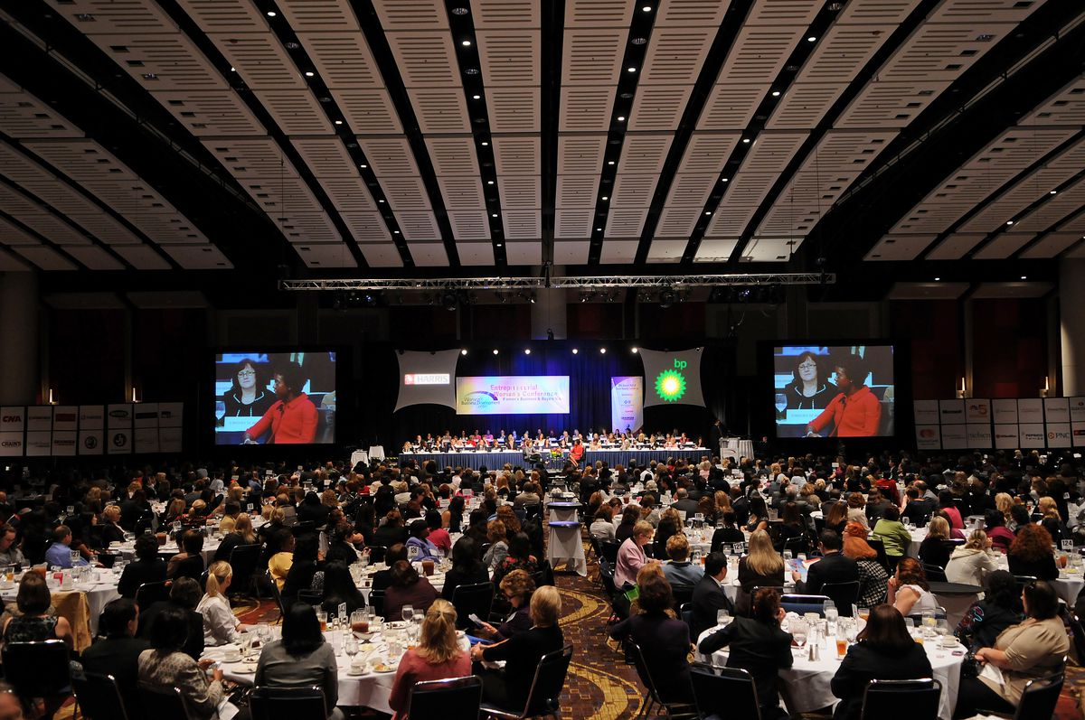 An auditorium at McCormick Place West is crowded during a 2010 event.