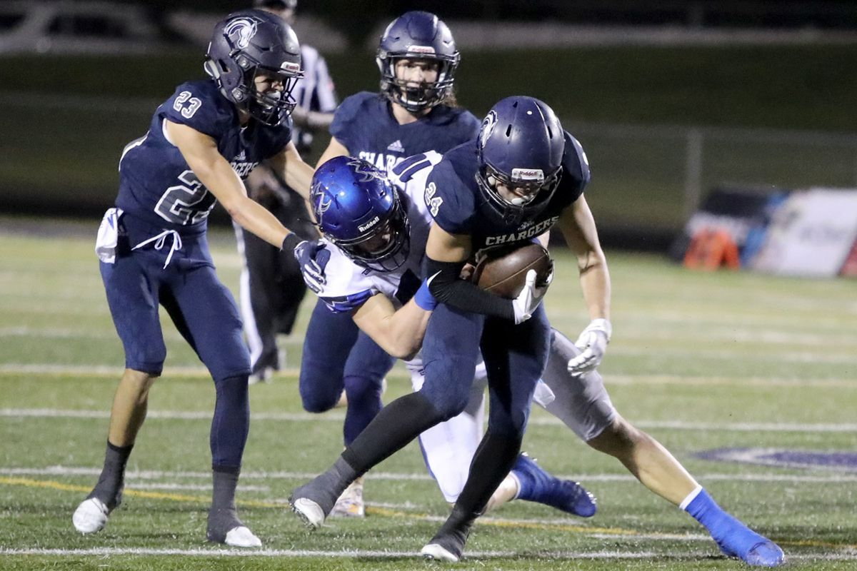 Pleasant Grove plays Corner Canyon in a football game at Corner Canyon High School in Draper on Friday, Aug. 17, 2018. Corner Canyon won 40-30. The Chargers will host a team from American Samoa this season.