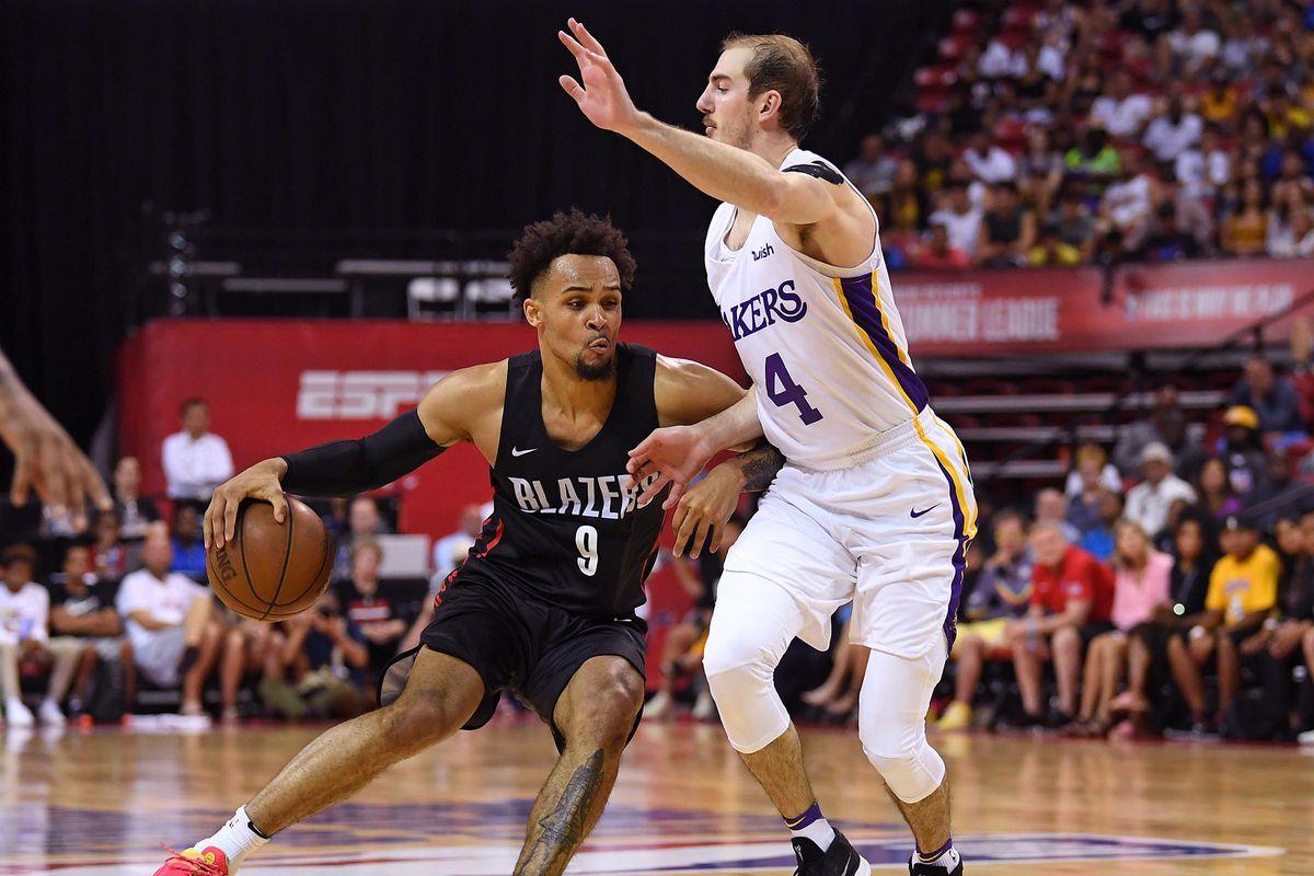 NBA: Summer League-Portland Trail Blazers at Los Angeles Lakers