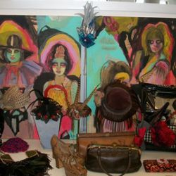 Artwork by Kime Buzzelli, hats and stuff by Laura Kranitz