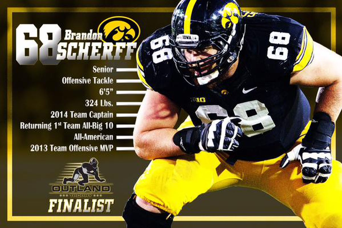 BRANDON SCHERFF NAMED OUTLAND TROPHY FINALIST Black Heart Gold Pants