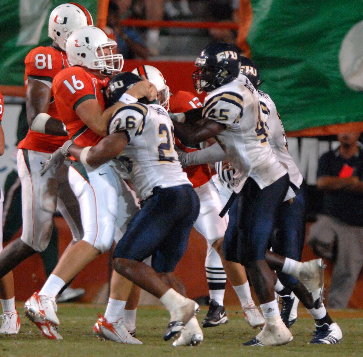 Football - NCAA - Miami vs. Florida International University
