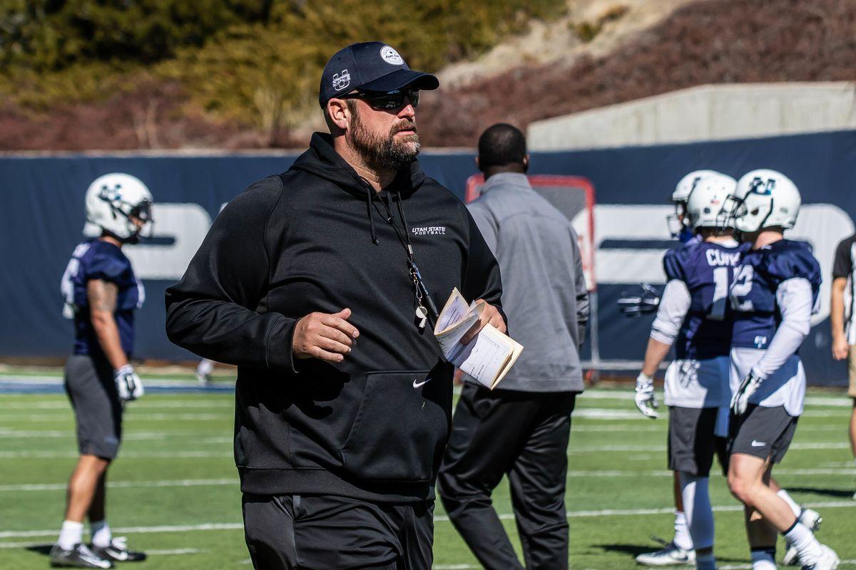 Utah State offensive Line Coach TJ Woods