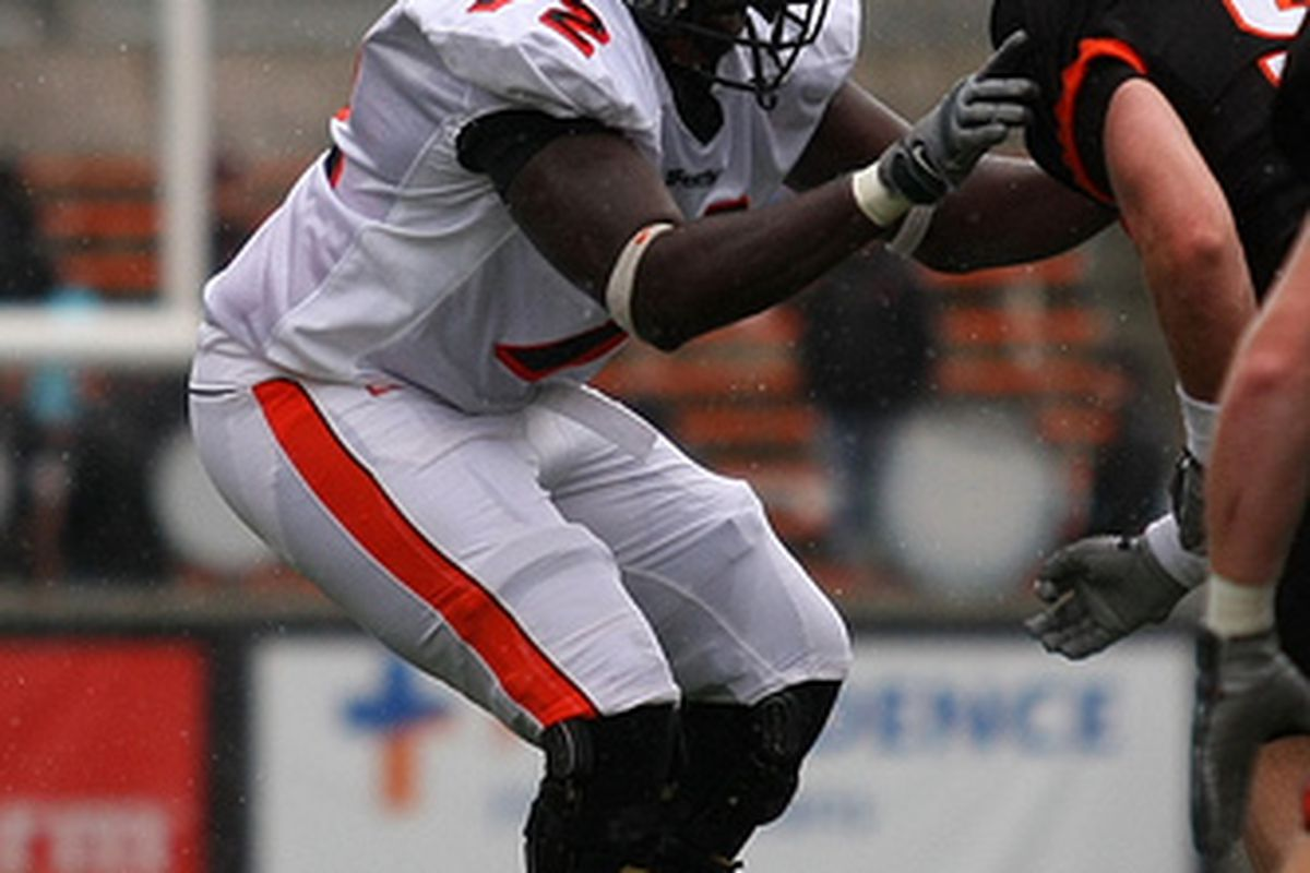 Offensive lineman Timi Oshinowo was expected to compete for a starting spot this fall. (Photo by Ethan Erickson)
