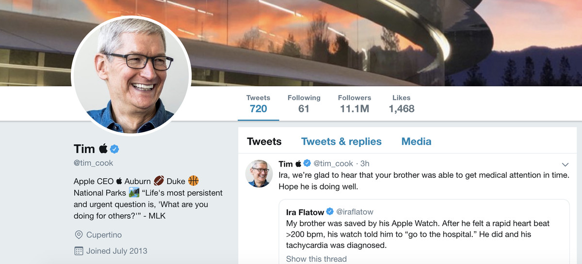 Tim Cook is now Tim Apple on Twitter - The Verge