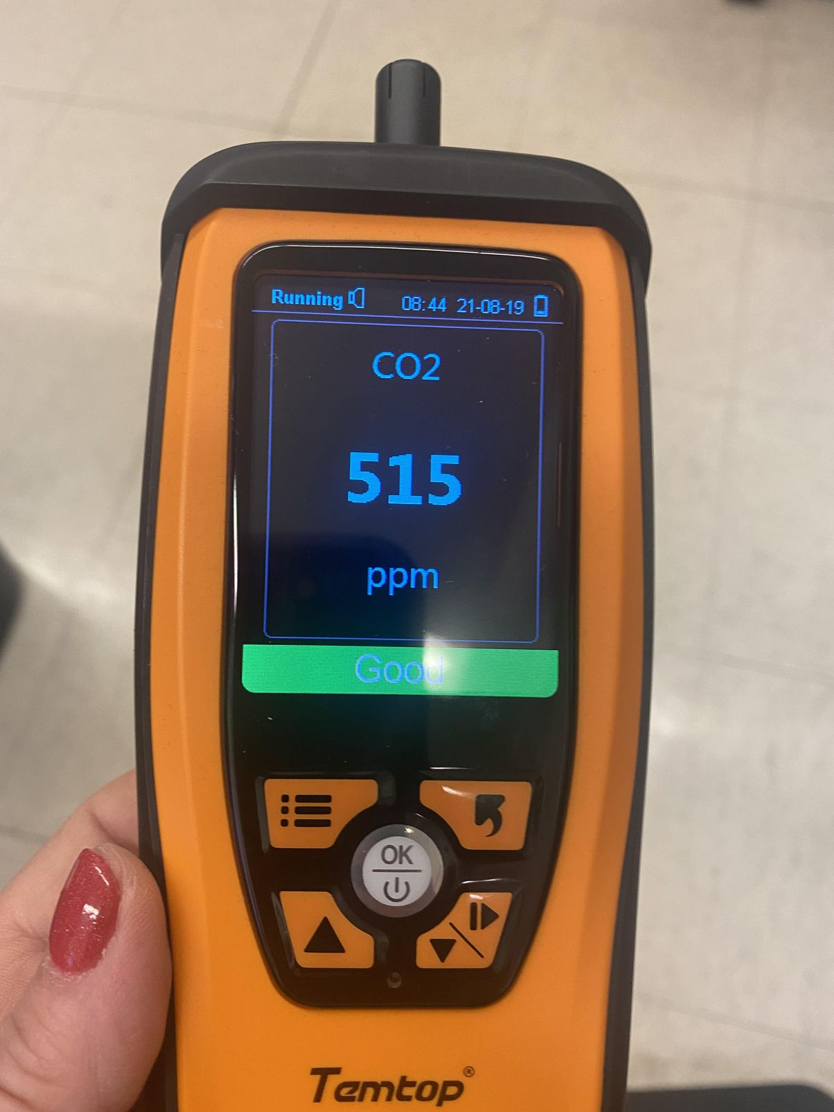 The education department sent carbon dioxide meters like this one to all schools.