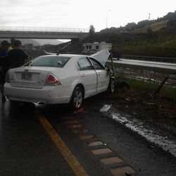 A Utah Highway Patrol trooper responding to a car that hydroplaned on I-15 near Cedar City was injured when the car was struck by a second vehicle and pushed on top of him on Monday, July 6, 2015.