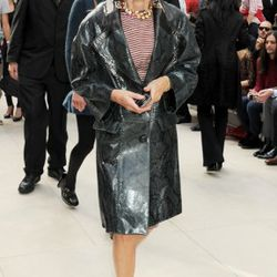 Anna Wintour arrives at the Burberry Spring Summer 2012 Womenswear Show at Kensington Gardens on September 19, 2011 in London, England.