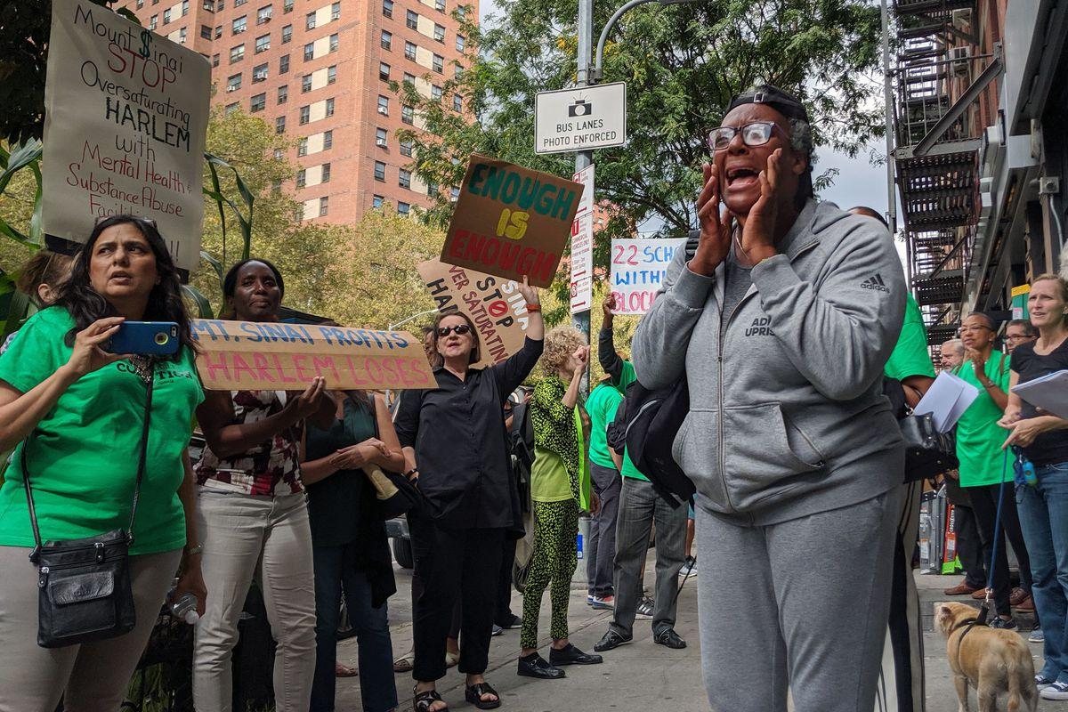 Harlem drug treatment center protest