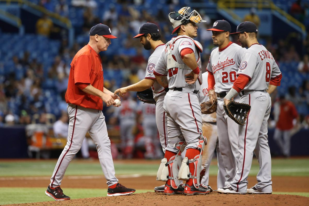 On Monday, Gio Gonzalez looked like he wouldn't have hit water if he'd fallen off a boat.