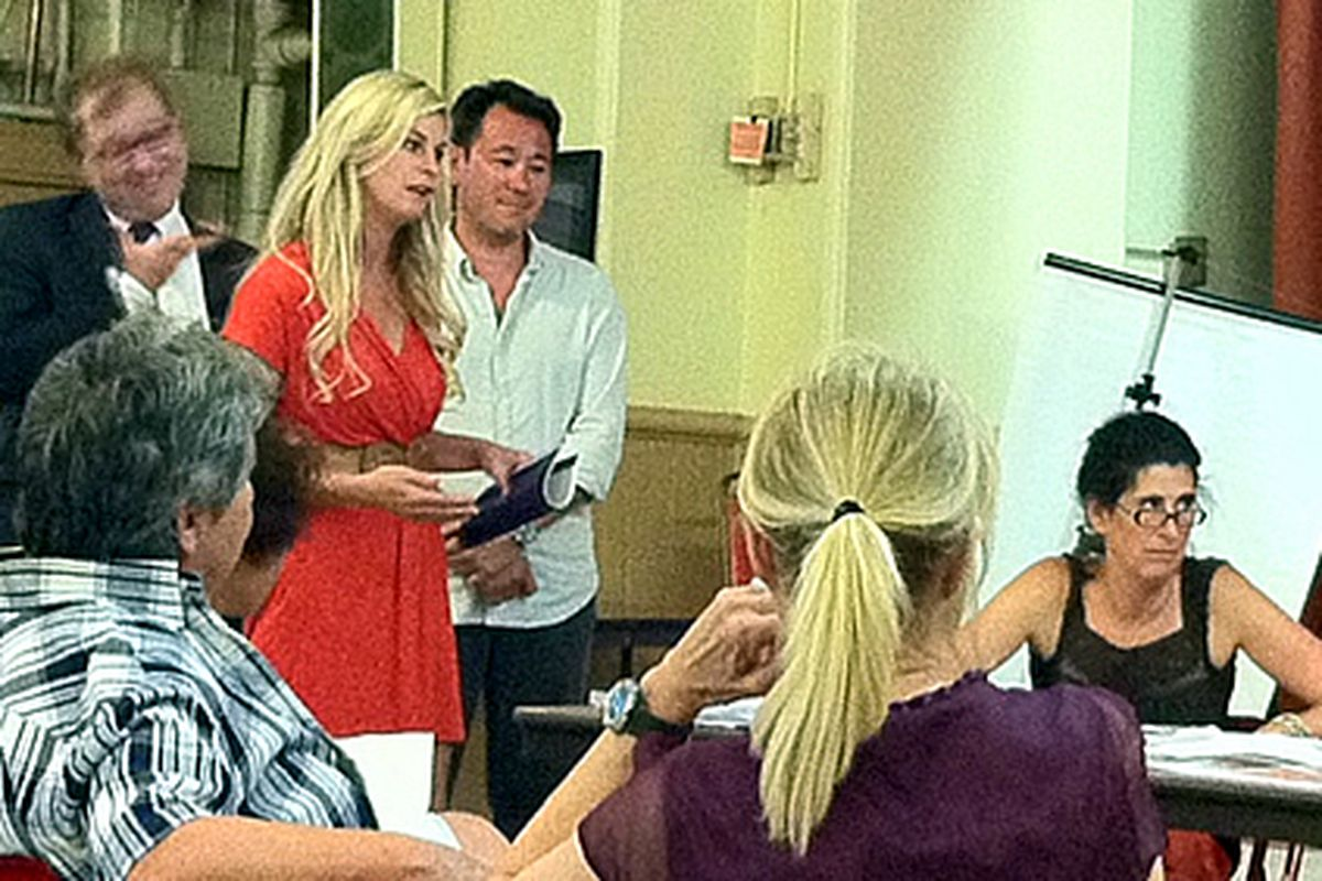 Jen Carroll pitches the board.