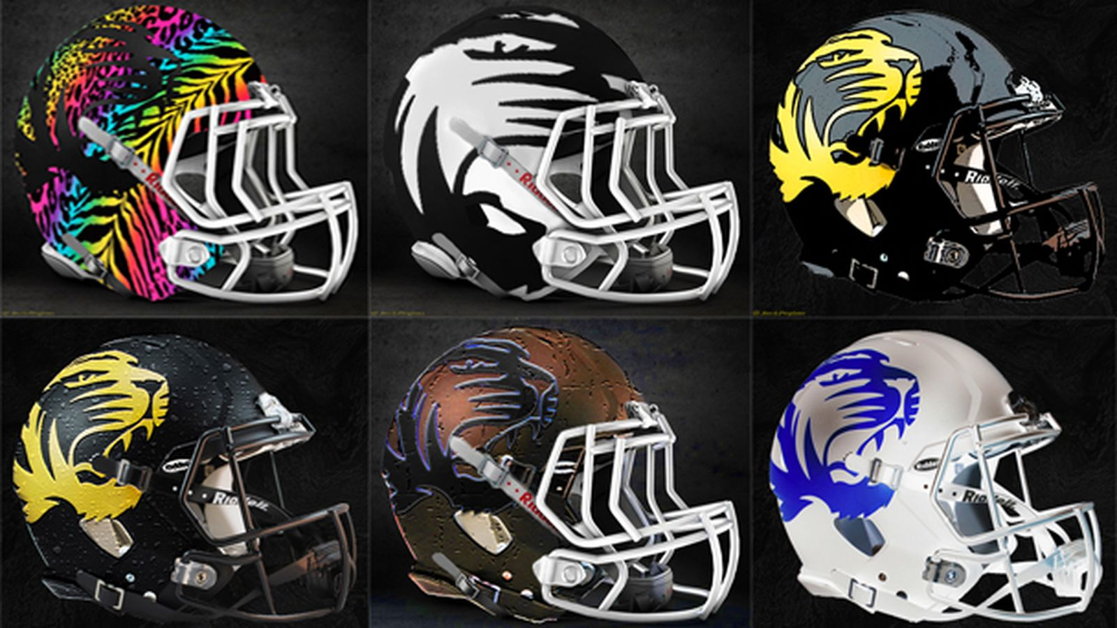 Design Company creates alternate Mizzou Football concept helmets - Rock M Nation
