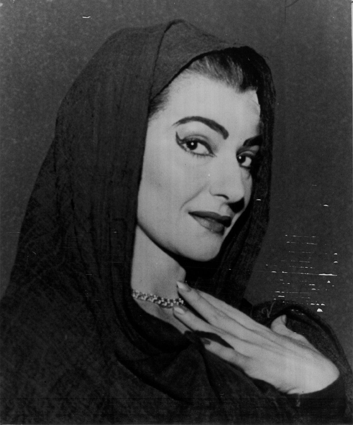 Maria Callas, pictured in 1958.