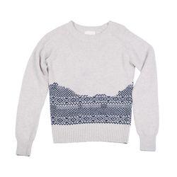 "Band of Outsiders broken fair isle raglan crewneck sweater, <a href=""http://www.bandofoutsiders.com/products/broken-fair-isle-raglan-crew"">$158</a> (was $395"