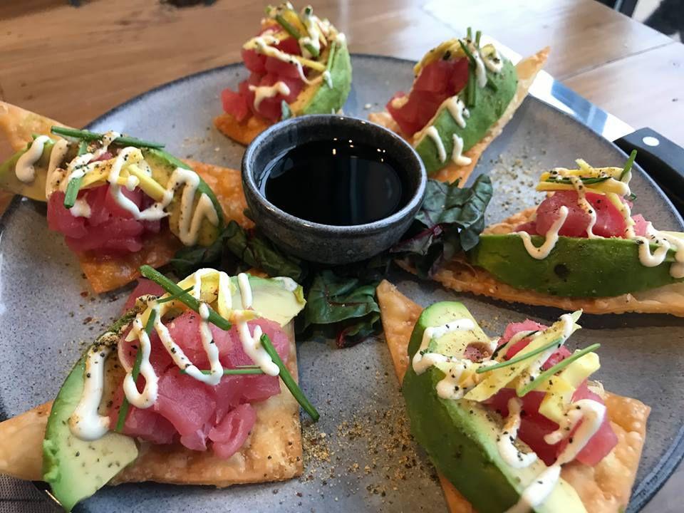 Tuna tartare with citrus wasabi and avocado at Craft Table & Bar
