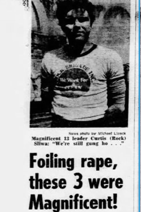 Curtis Sliwa later later admitted lying to the Daily News in 1979 about foiling an attempted rape.