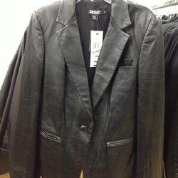 Leather Blazer ($249)