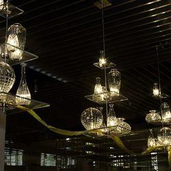 Lights at Bacchanal Buffet.