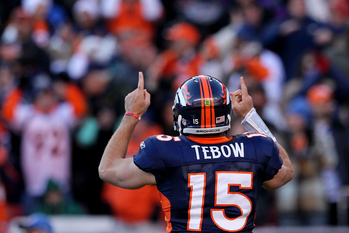 new arrival 100df 1a46e Tim Tebow says he is rooting for the Denver Broncos to win ...