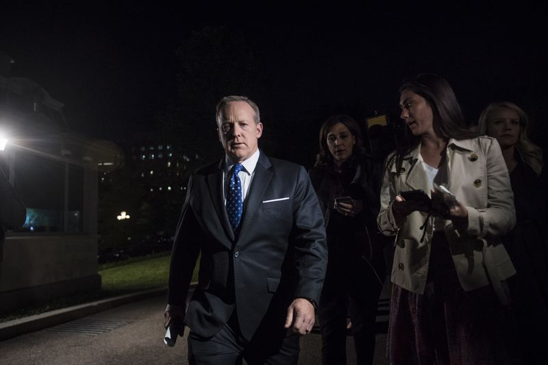 GettyImages_681336610 Sean Spicer's book misleads about 2 events Mueller is investigating