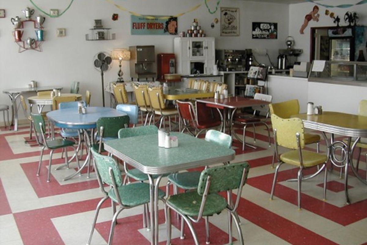 The dining room at Java Jive.