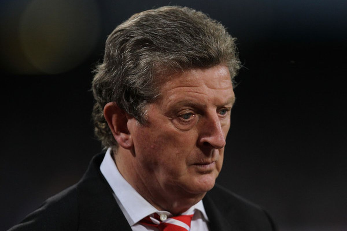 """Who wants to start the """"When does Roy Hodgson get sacked"""" betting pool? I say 'Woy goes Monday morning.  (Photo by Hamish Blair/Getty Images)"""