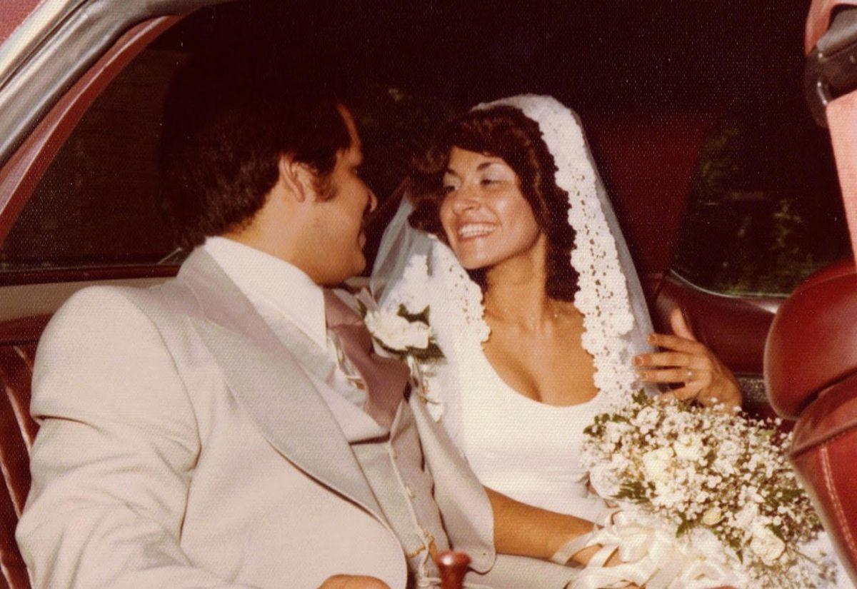 Phillip and Karen Rios on their wedding day.