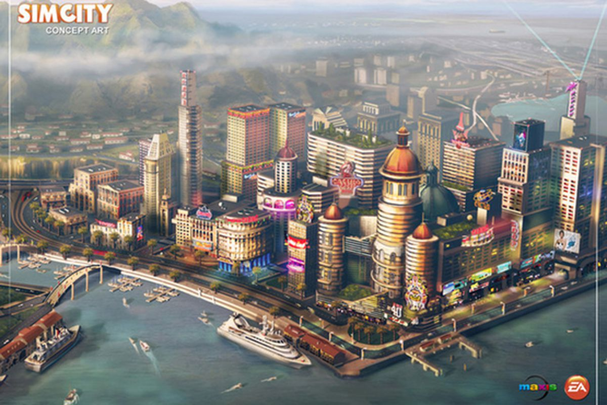 sim city concept art