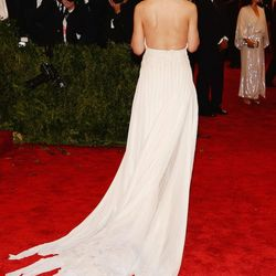 The back of Katie Holmes' Calvin Klein gown. Not punk, but pretty beautiful.