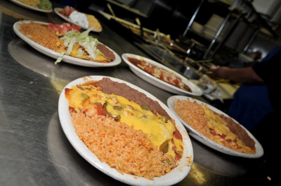 Tex-Mex plates from Enchiladas y Mas