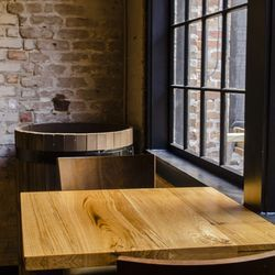 The tables in the main bar were made from one giant tree