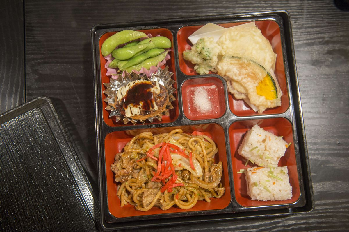 A bento box style dinner at one of the restaurants in Kyoto...