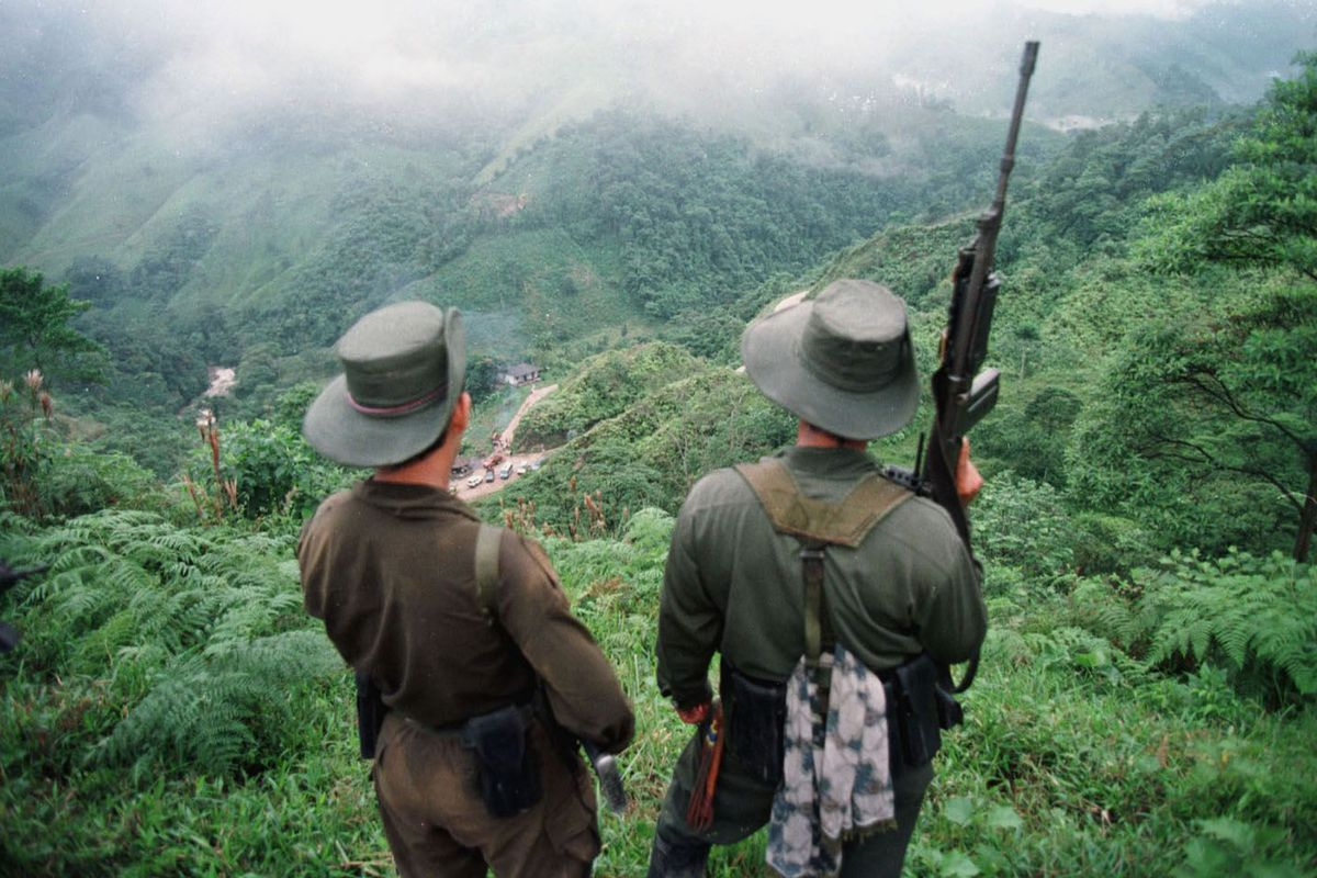 FARC militants in Colombia