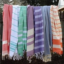 """Handwoven organic cotton towels, $35 from <a href=""""http://myturkishtextiles.com/"""">My Turkish Textiles</a>"""
