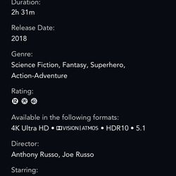 <em>When viewed in the app, a title's detail page will show you if it's available in 4K, HDR, and Dolby Atmos. The browser view doesn't display this information.</em>