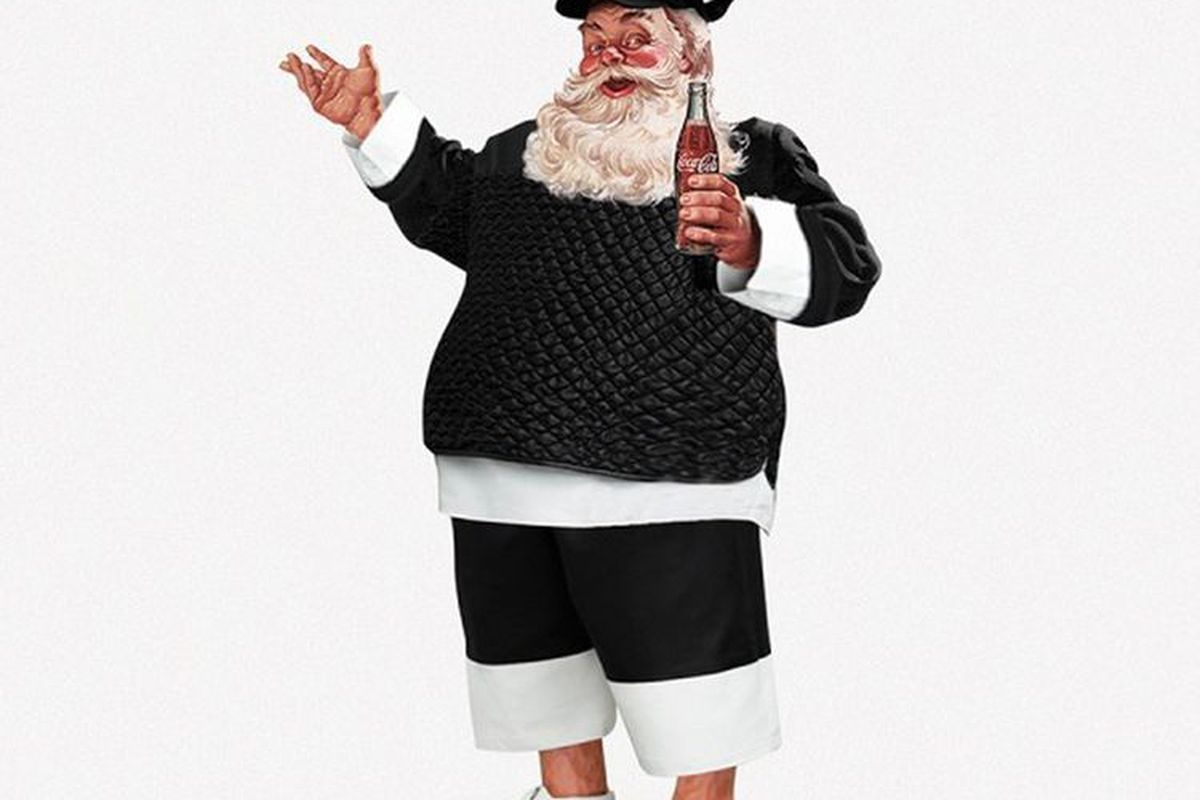 """Image via <a href=""""http://www.stylist.co.uk/fashion/father-christmas-in-designer-outfits-santa-claus-xmas"""">Stylist</a>"""