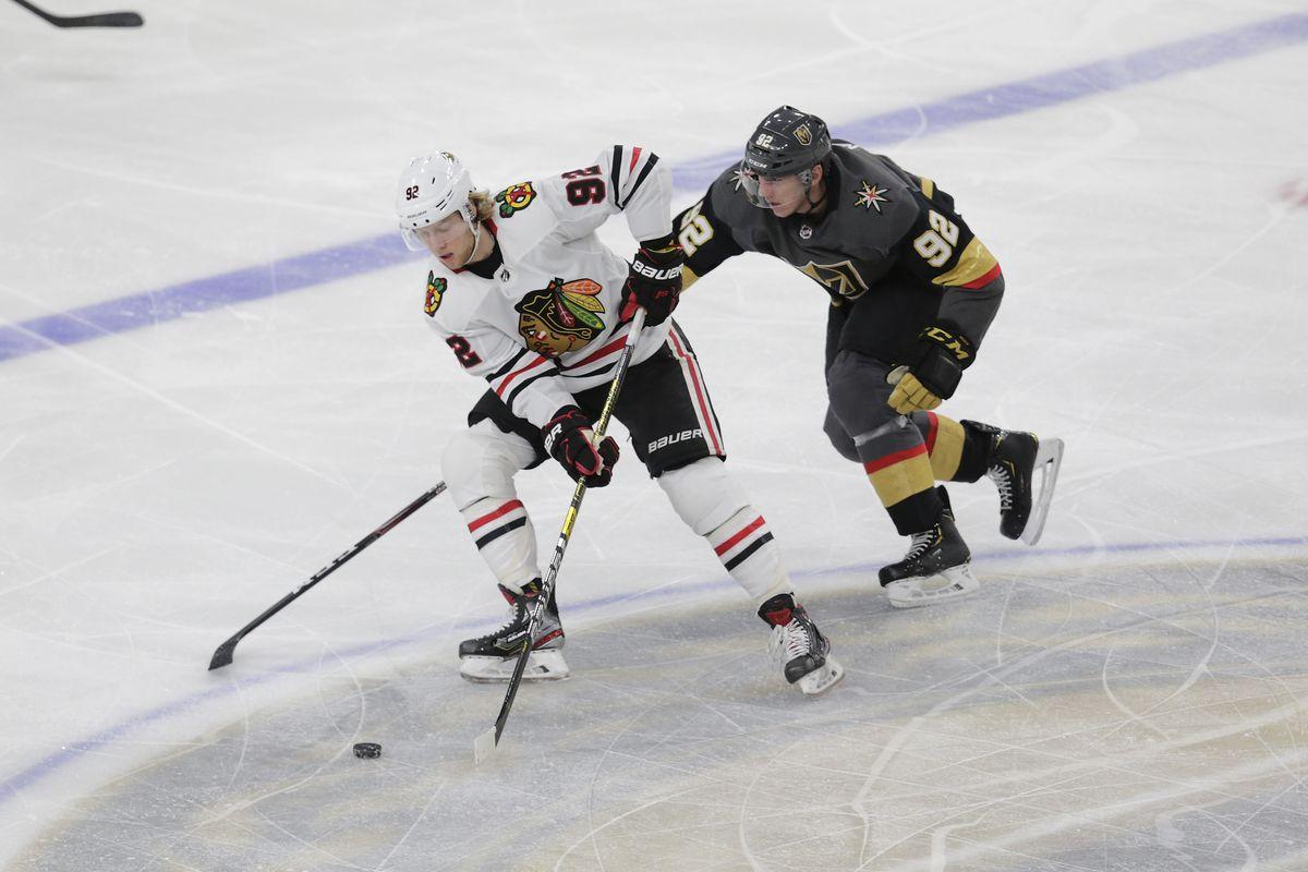 NHL: DEC 10 Blackhawks at Golden Knights