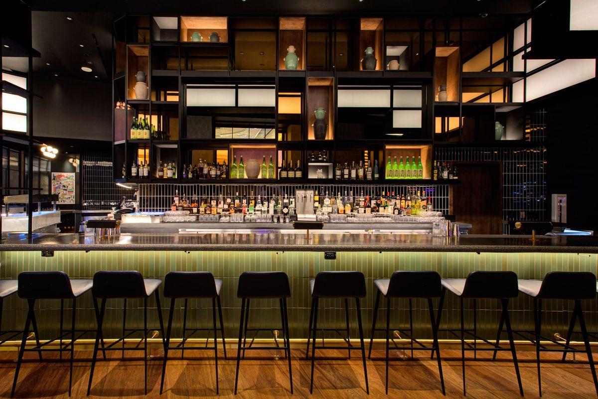 The bar at Majordomo