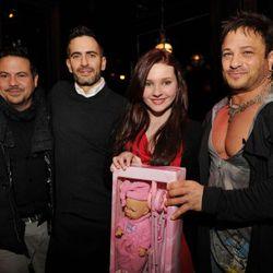 <i>Narciso Rodriguez, Marc Jacobs, Abigail Breslin and David Barton via Seth Browarnik/worldredeye.com</i>