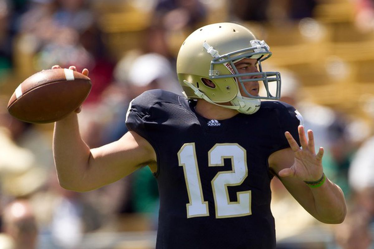 Former Notre Dame quarterback Andrew Hendrix is finishing his career at Miami University.