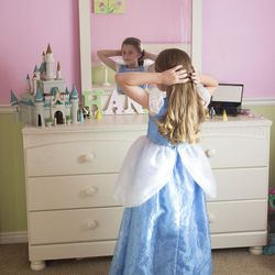 """Girls immersed in princess culture may not see their potential to learn math and sciences or do """"ungirly"""" things.     Photography by: Mark A. Philbrick/BYU Photo  Copyright BYU Photo 2016 All Rights Reserved photo@byu.edu (801)422-7322  5020"""