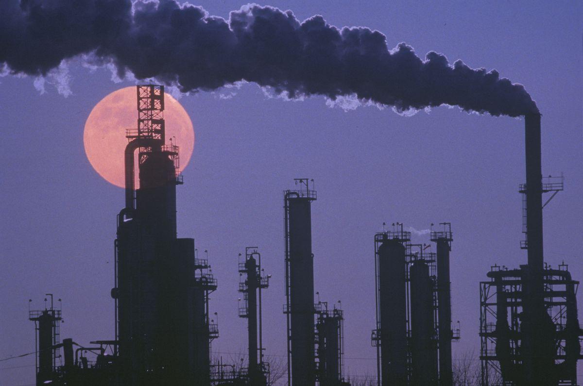 oil refinery moon