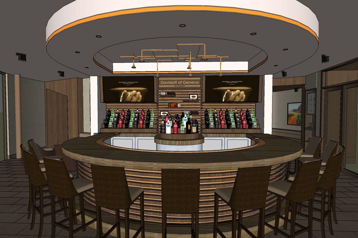 Million Dollar Davidoff Cigar Bar to Fire Up In November - Eater Vegas