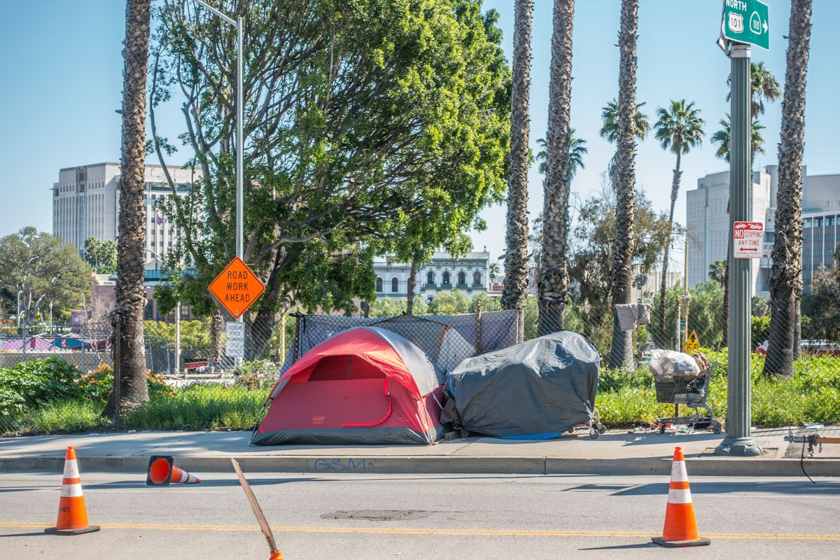 Tent in Downtown LA