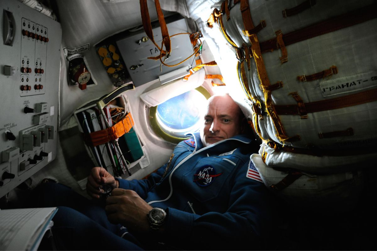 Scott Kelly, aboard the International Space Station on a previous mission in 2010
