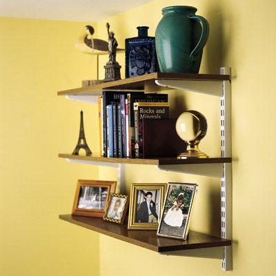 Adjustable Wall-Mounted Shelves