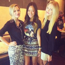 Bloggers Aimee Song (center) and Shea Marie (right) with friend