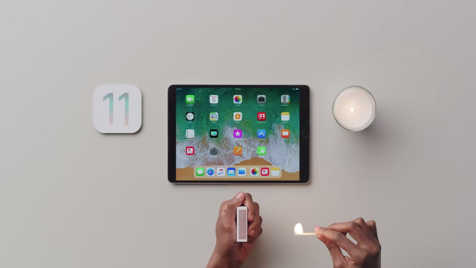 Apple hypes iOS 11 with new iPad Pro videos
